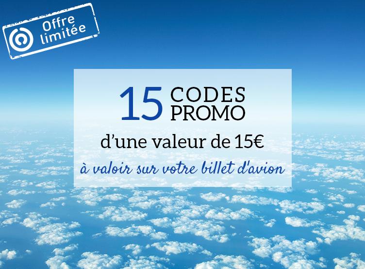 Offre-limitée-15-codes-promo-de-15€-à-utiliser-sur-vos-billets-d'avion